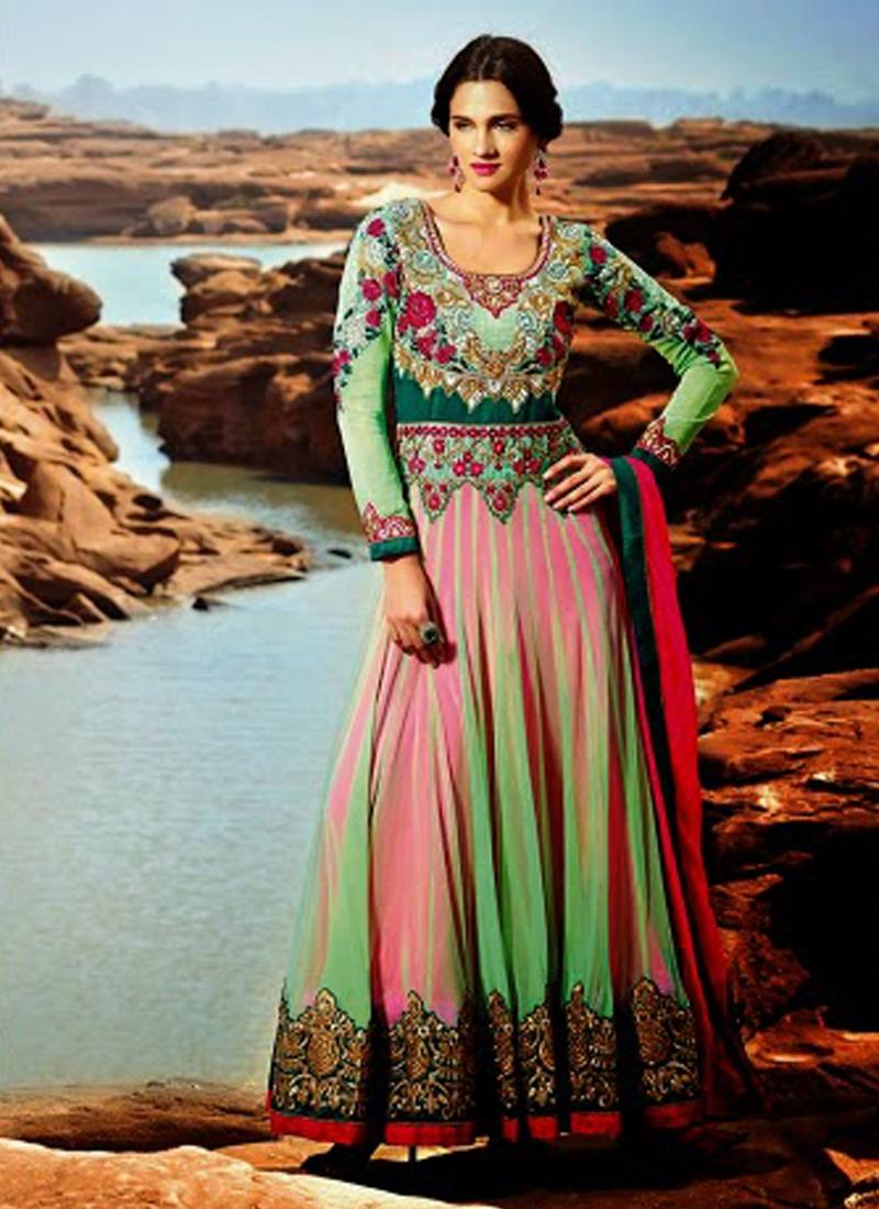 Patch And Resham Work Designer Salwar Kameez