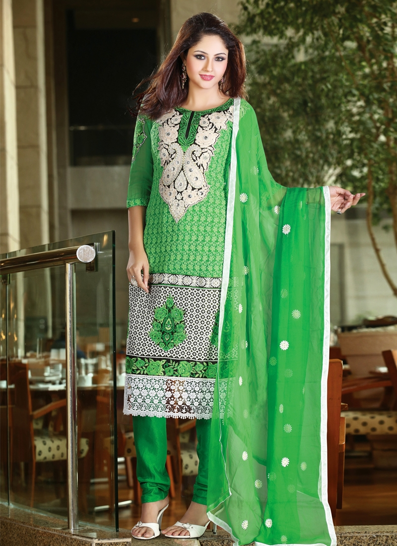 Patch And Resham Work Party Wear Salwar Suit