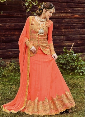 Patch Border Work Long Choli Lehenga