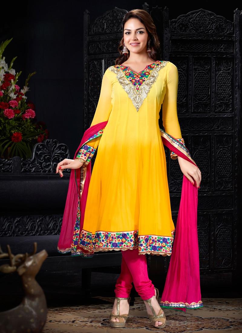 Patch Enhanced Esha Deol Bollywood Suit