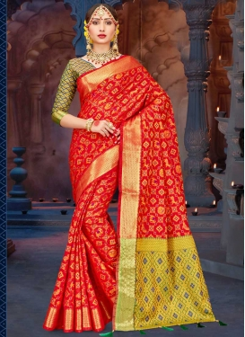 Patola Silk Contemporary Style Saree For Ceremonial