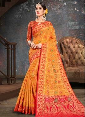 Patola Silk Contemporary Style Saree For Ceremonial