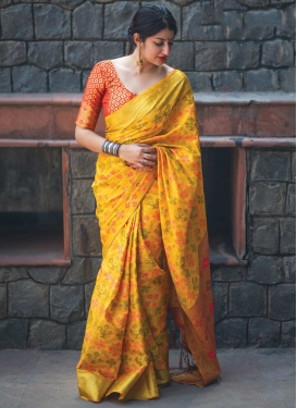 Patola Silk Thread Work Classic Saree