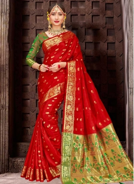 Patola Silk Thread Work Contemporary Saree