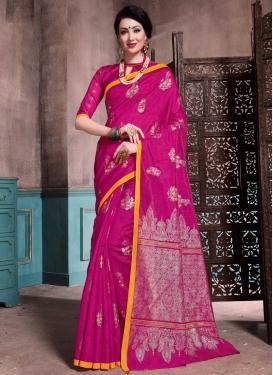 Patola Silk Thread Work Contemporary Saree