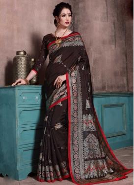 Patola Silk Thread Work Designer Contemporary Saree