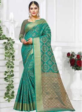 Patola Silk Thread Work Traditional Designer Saree