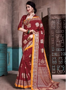 Patola Silk Thread Work Trendy Classic Saree
