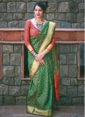 Patola Silk Thread Work Trendy Saree