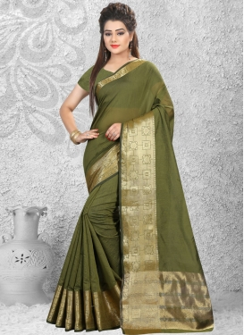 Peppy Cotton Silk Saree