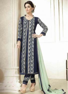 Peppy Embroidery Work Pant Style Designer Salwar Kameez