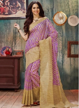 Peppy Resham Work  Traditional Saree