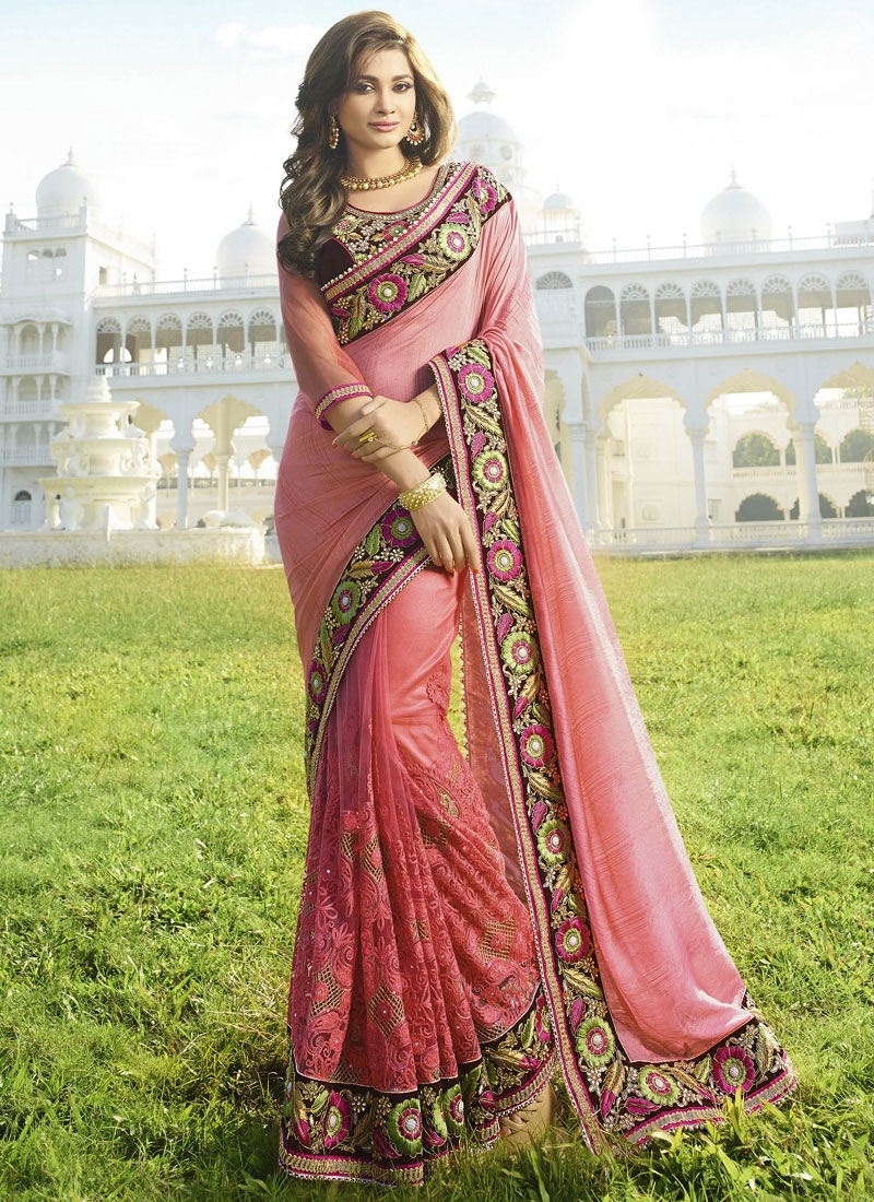 Peppy Viscose And Net Wedding Saree