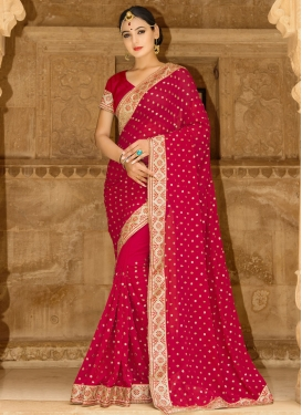 Perfect Beads Work Contemporary Style Saree