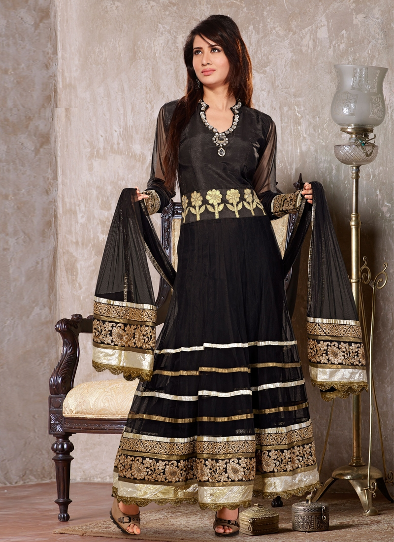 Perfect Black Color Readymade Designer Suit