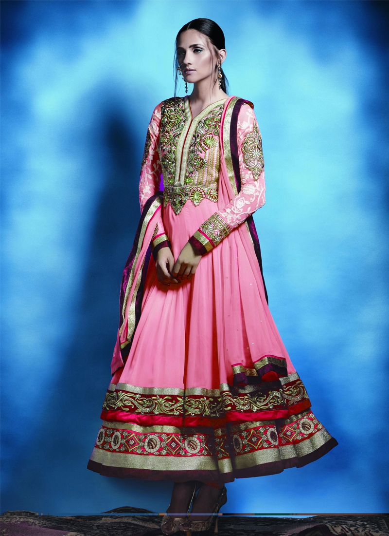 Perfect Faux Georgette Anarkali Salwar Kameez