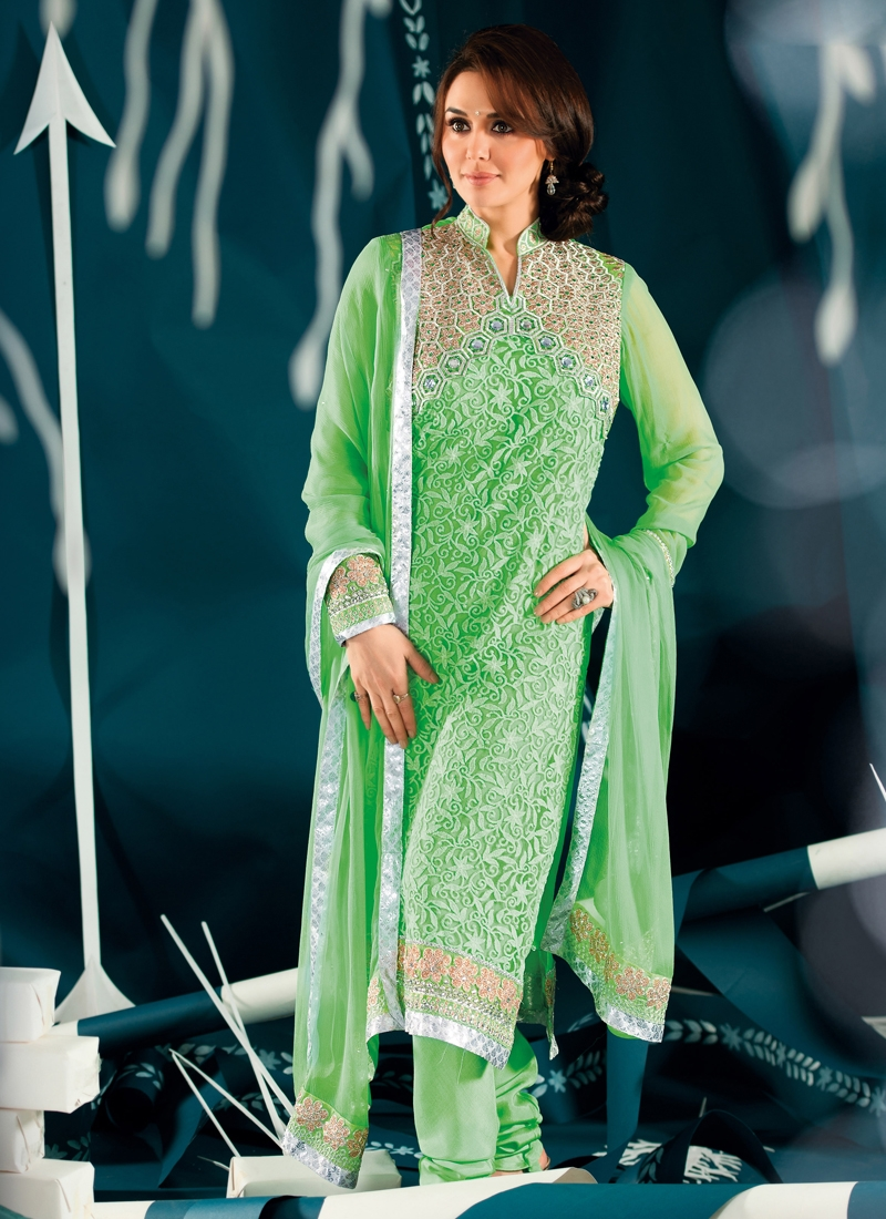 Perfect Georgette And Net Party Wear Suit
