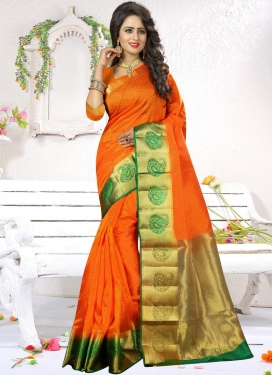 Perfect Thread Work Art Silk Contemporary Saree