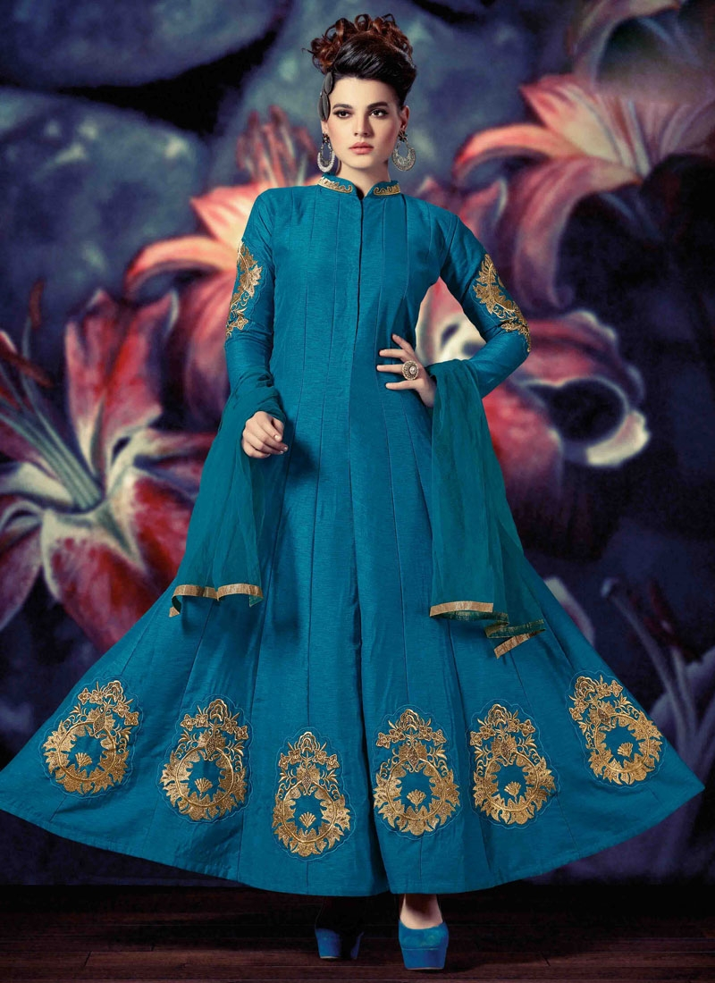 Perfervid Booti Work Ankle Length Readymade Designer Suit
