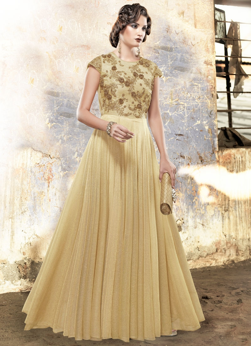 Perfervid Embroidery Work Wedding Readymade Gown