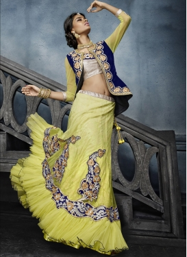 Perfervid Net Jacket Style Lehenga Choli For Festival