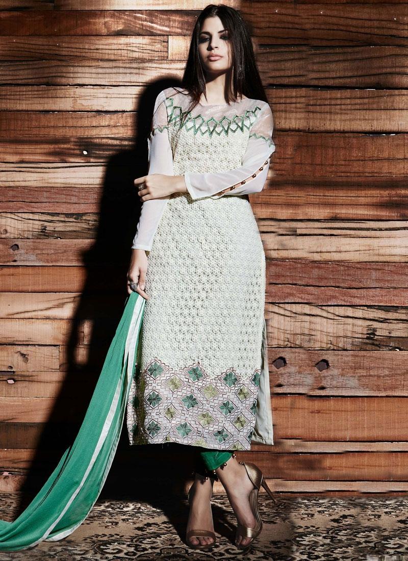 Perfervid Net Resham Work Pant Style Designer Salwar Kameez