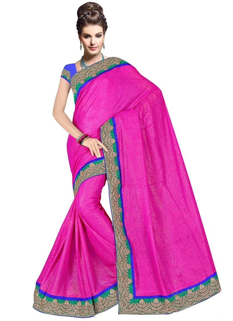 Perfervid Shimmer Georgette Party Wear Saree