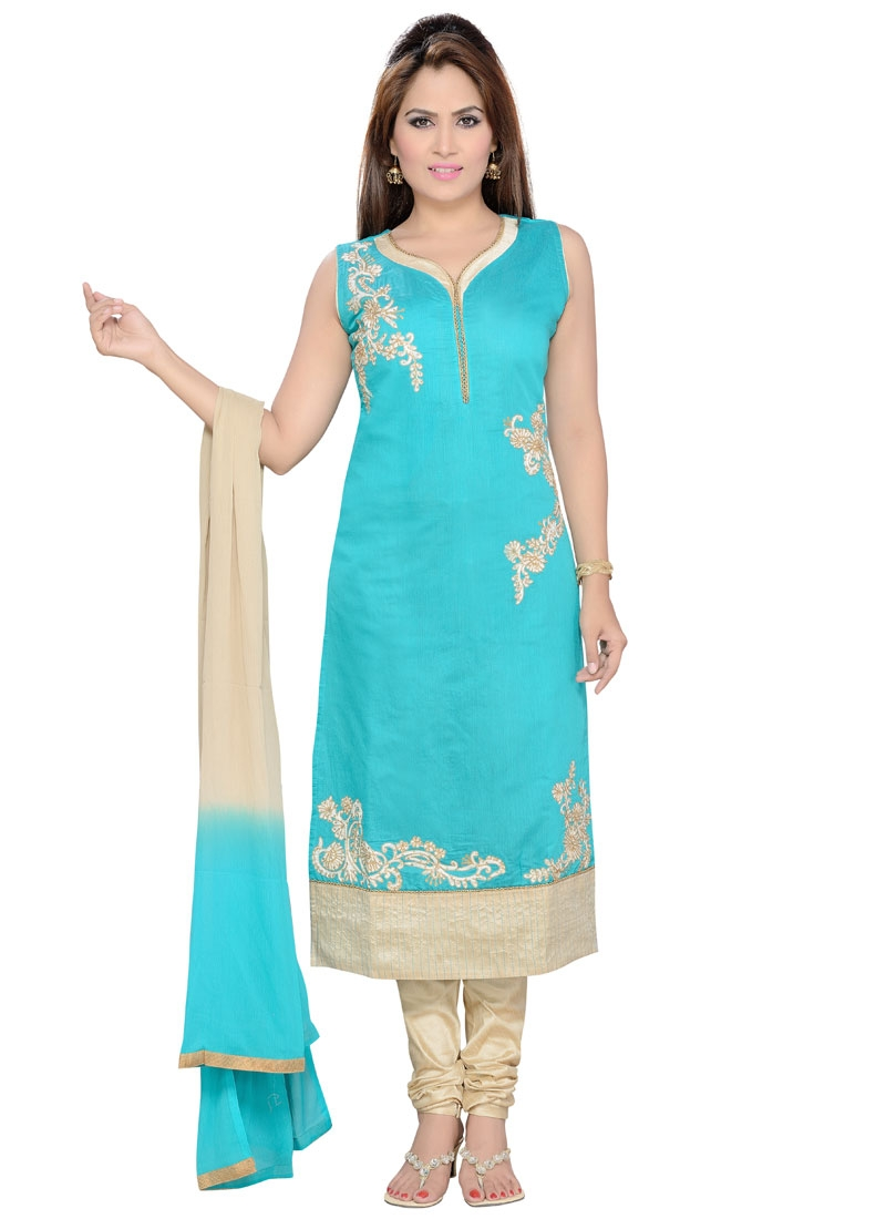 Perfervid Stone And Resham Work Party Wear Readymade Suit