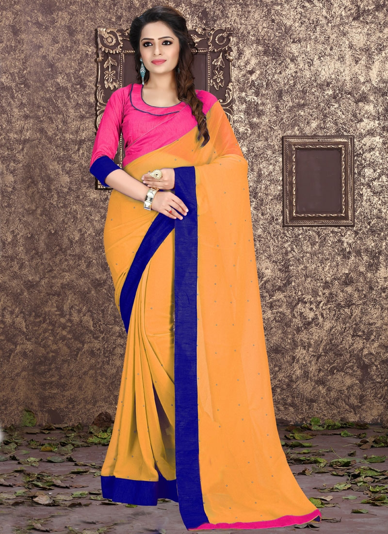 Perfervid Stone Work Casual Saree