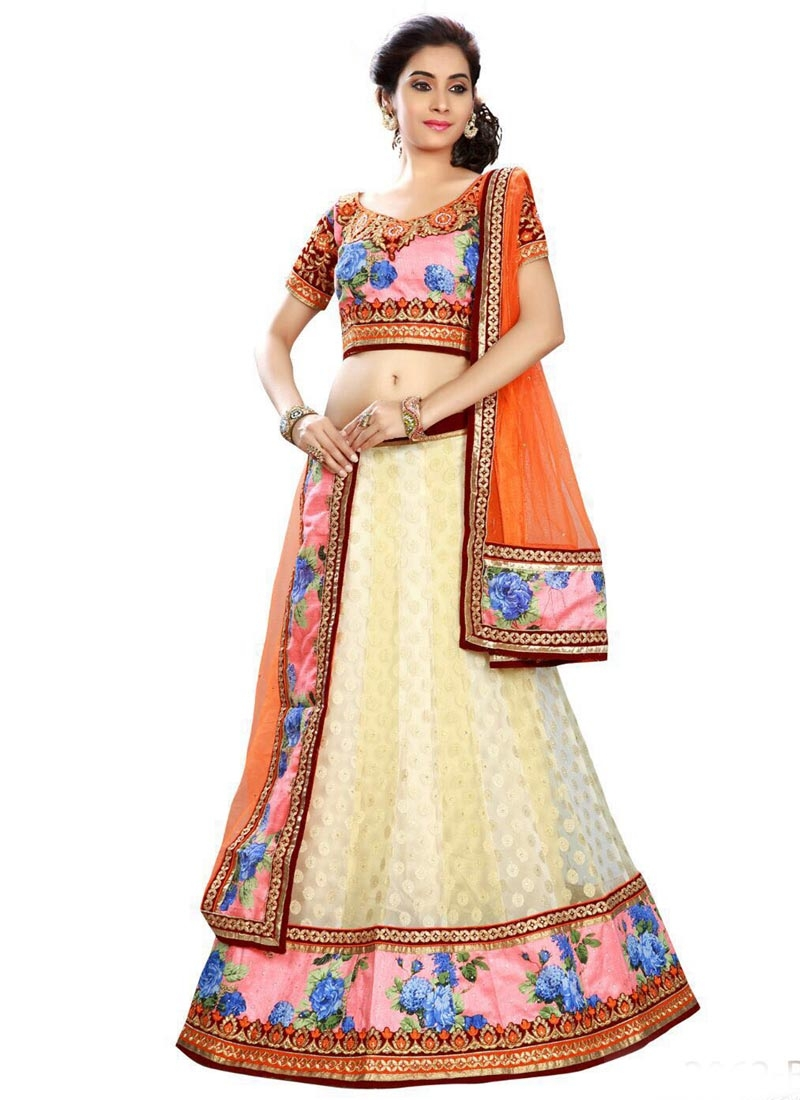 Perfervid Viscose And Net Designer Lehenga Choli
