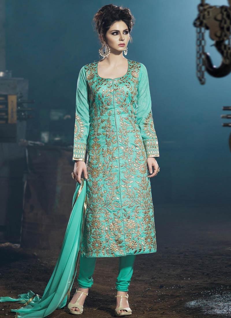 Phenomenal Art Silk Party Wear Salwar Kameez