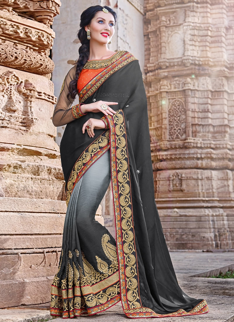 Phenomenal Booti Work Designer Saree