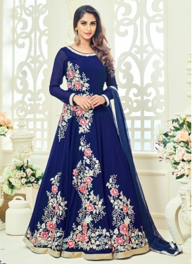 Phenomenal Embroidered Work Faux Georgette Floor Length Anarkali Salwar Suit