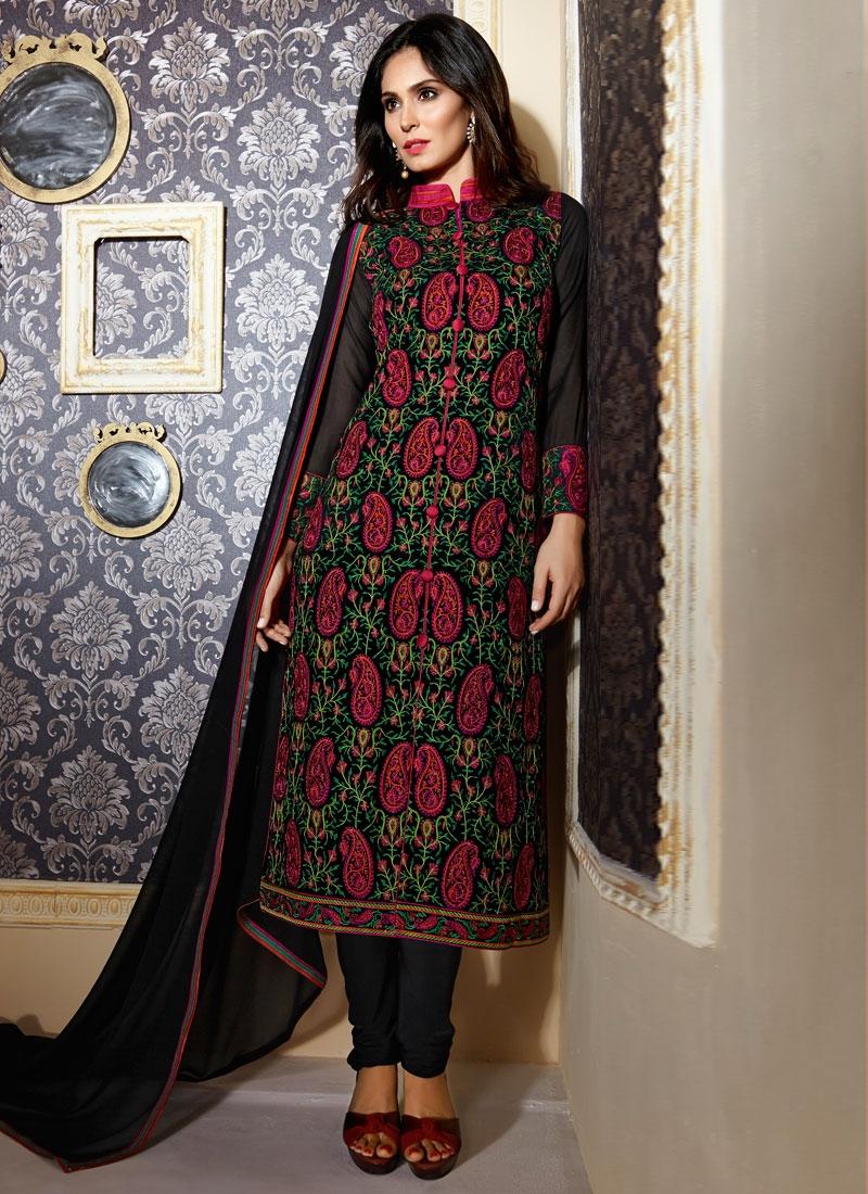 Phenomenal Faux Georgette Designer Salwar Kameez