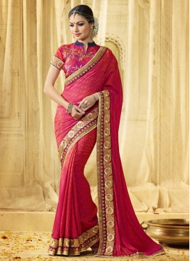 Picturesque Beads Work  Trendy Classic Saree