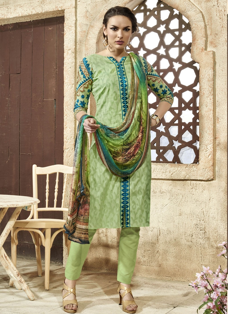 Picturesque Embroidery Work Pant Style Party Wear Suit