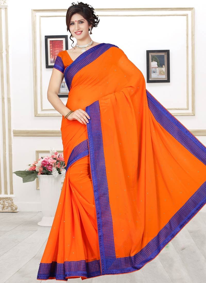 Picturesque Faux Georgette Casual Saree