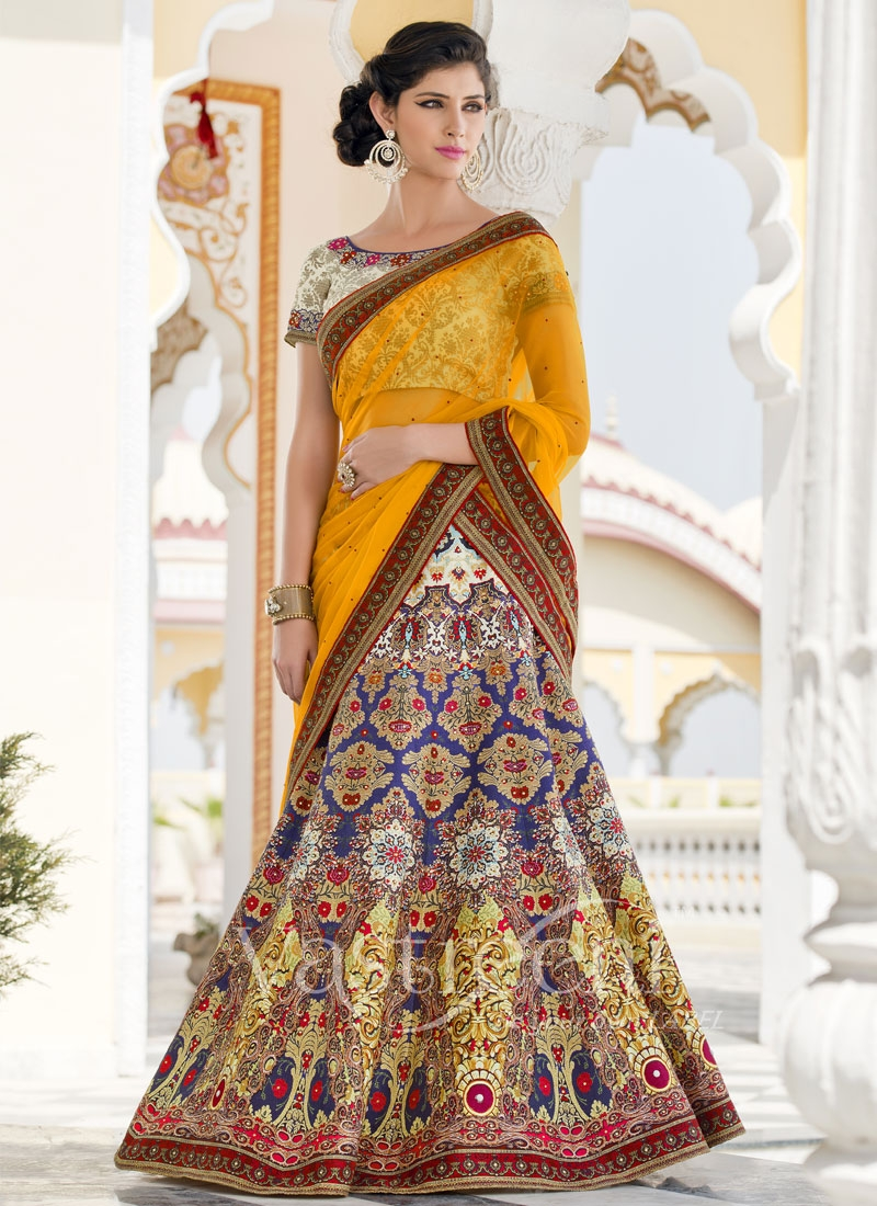 Picturesque Lace Work Silk Designer Lehenga Choli