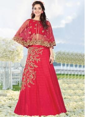 Picturesque Raw Silk Embroidered Work Trendy Designer Lehenga Choli