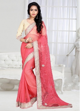 Picturesque Shimmer Georgette Contemporary Saree