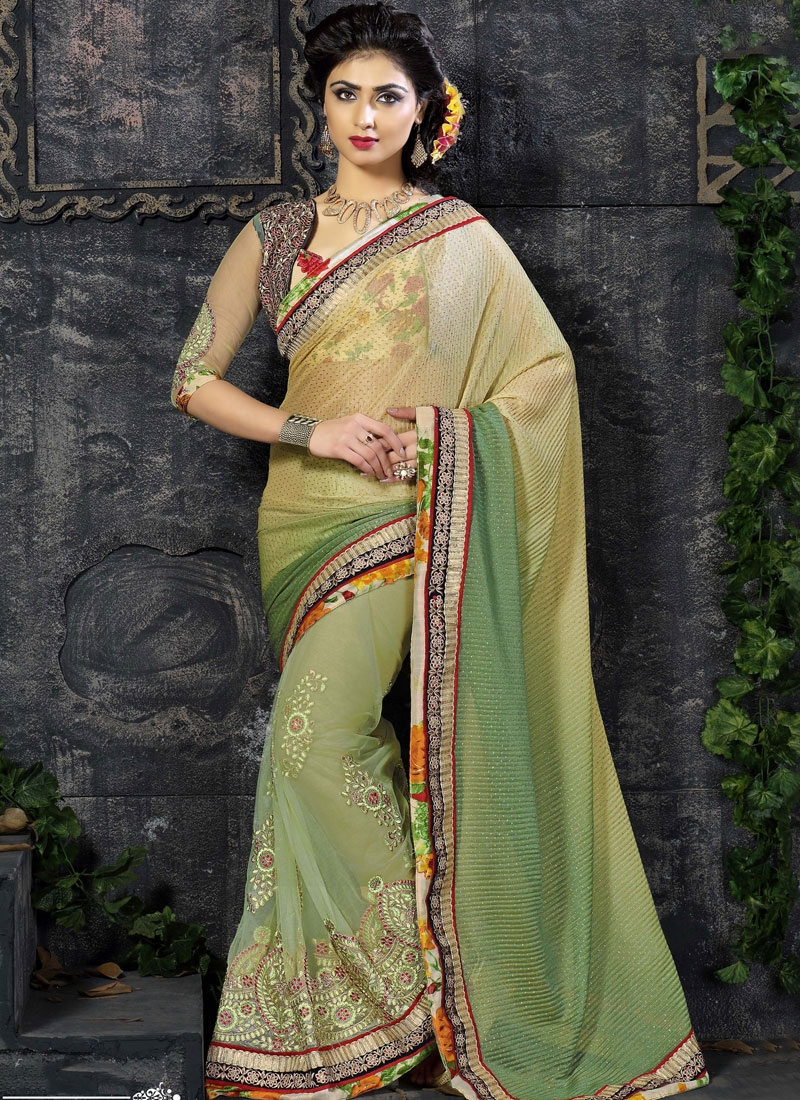 Picturesque Viscose Booti Work Party Wear Saree