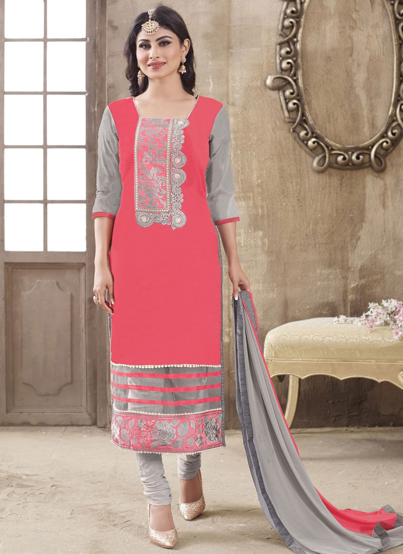 Piquant Cotton Mouni Roy Party Wear Salwar Kameez