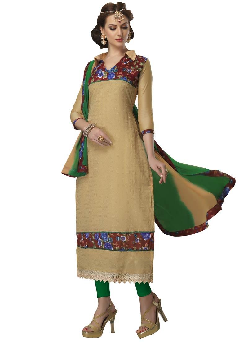 Piquant Digital Print Work Casual Salwar Suit