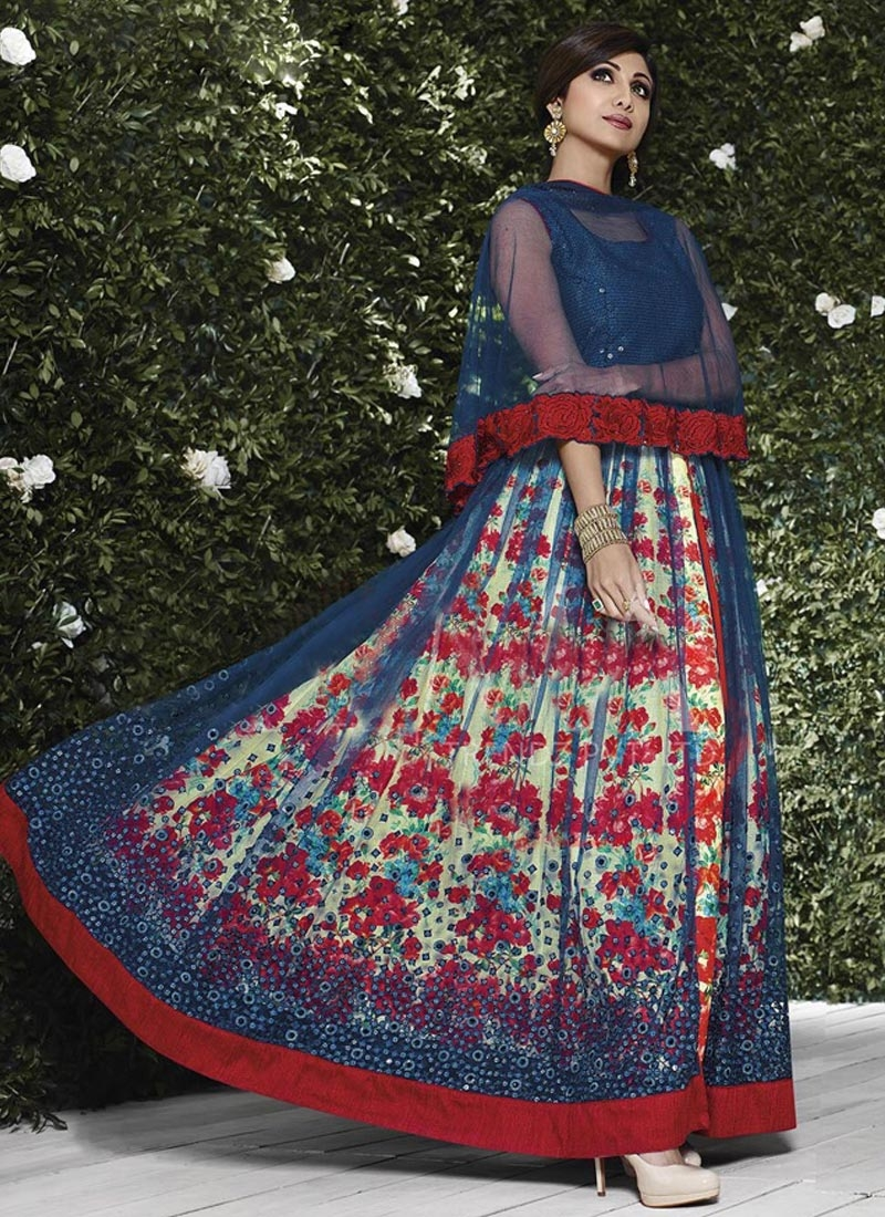 Piquant Digital Print Work Shilpa Shetty Designer Salwar Suit