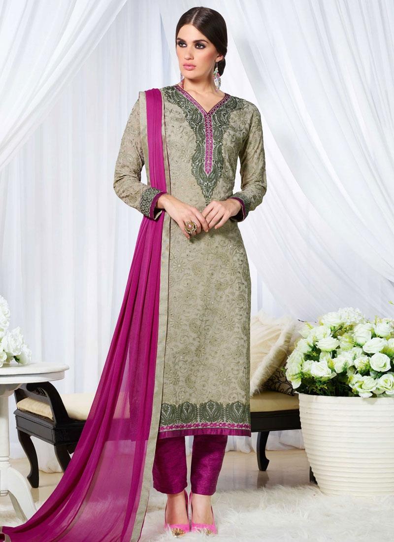 Piquant Karachi Work Pant Style Pakistani Salwar Suit