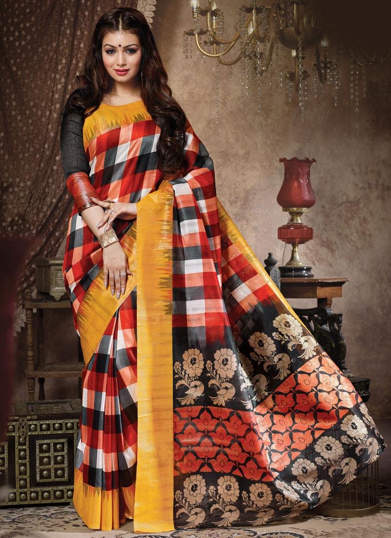 Piquant Multi Color Ayesha Takia Casual Saree