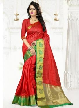 Pleasance Art Silk Thread Work Trendy Classic Saree
