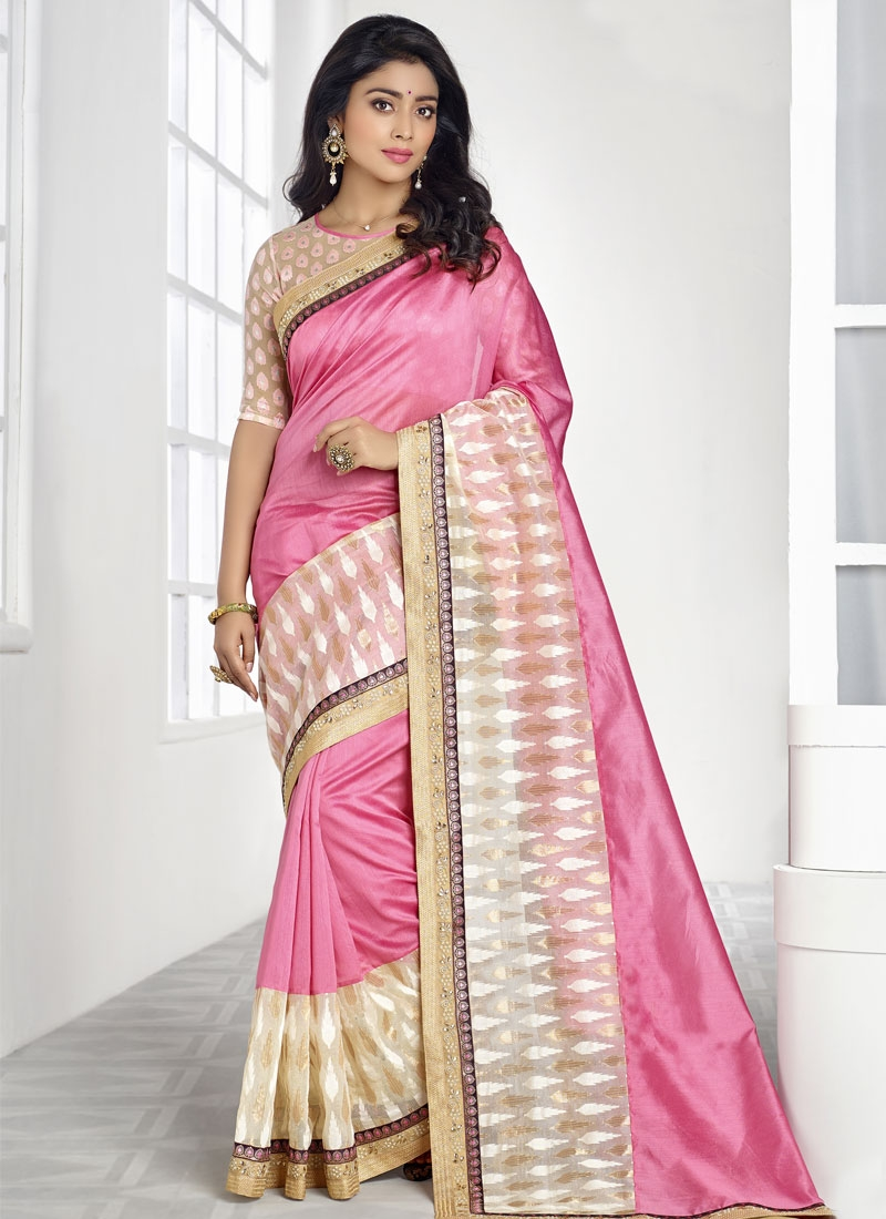 Pleasance Banarasi Silk Shriya Saran Party Wear Saree