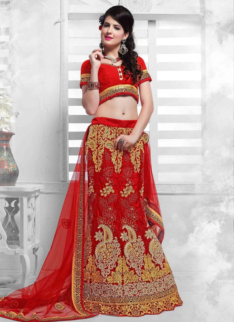 Pleasance Beads Work Net Wedding Lehenga Choli