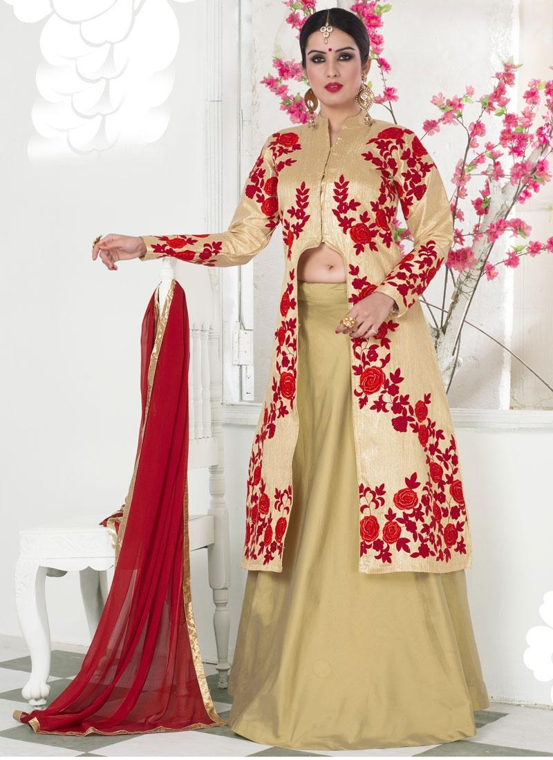 Pleasance Brocade Floral Work Designer Lehenga Choli